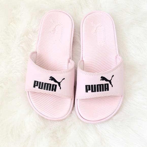 puma shoes baby pink slides poshmark